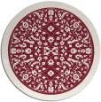 rug #1309811 | round pink traditional rug