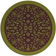 rug #1309827 | round purple rug