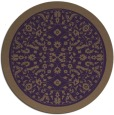 rug #1309831 | round mid-brown damask rug