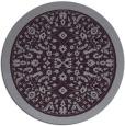 rug #1309835 | round purple natural rug