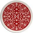 rug #1309839 | round red damask rug