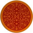 rug #1309843   round orange borders rug