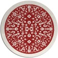 rug #1309847 | round red traditional rug