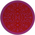 rug #1309851 | round red traditional rug