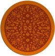 rug #1309855 | round red-orange damask rug