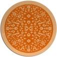 rug #1309859   round red-orange traditional rug