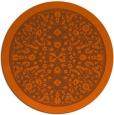 rug #1309863 | round red-orange damask rug
