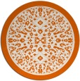 rug #1309867 | round red-orange traditional rug