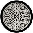 rug #1309871 | round black damask rug