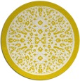 rug #1309875 | round white traditional rug