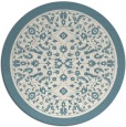 rug #1309891 | round blue-green damask rug