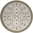 rug #1309895   round beige damask rug