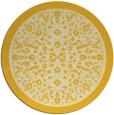 rug #1309899 | round yellow natural rug