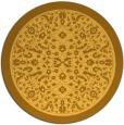 rug #1309911 | round yellow damask rug