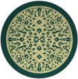 rug #1309915 | round blue-green borders rug
