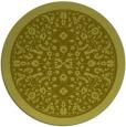 rug #1309919 | round light-green damask rug