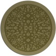 rug #1309931 | round light-green natural rug