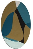 rug #1310711 | oval mid-brown retro rug