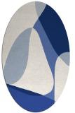 rug #1310731 | oval blue retro rug