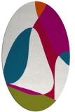 rug #1310799 | oval red retro rug