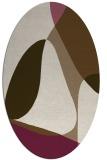 rug #1310843 | oval beige graphic rug