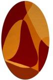 rug #1310895 | oval orange retro rug