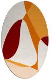 rug #1310899 | oval orange abstract rug