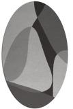 rug #1310907 | oval orange graphic rug
