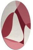 rug #1310915   oval pink abstract rug