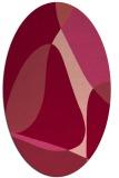 rug #1310922 | oval abstract rug