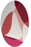 rug #1310923   oval pink retro rug
