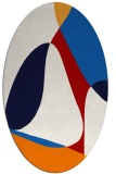 rug #1310943 | oval red abstract rug