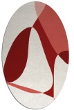 rug #1310951 | oval red abstract rug