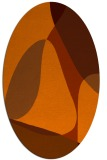 rug #1310959 | oval red-orange abstract rug