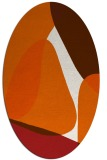 rug #1310971 | oval red-orange abstract rug
