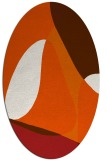 rug #1310974 | oval abstract rug