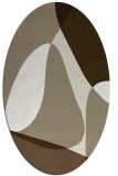 rug #1311001 | oval retro rug