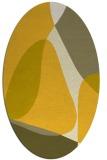 rug #1311003 | oval yellow rug
