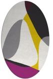 rug #1311011 | oval white retro rug