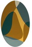 rug #1311015   oval yellow abstract rug