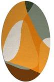rug #1311043 | oval light-orange graphic rug