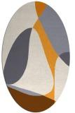 rug #1311047 | oval white retro rug