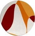 rug #1311635 | round orange abstract rug