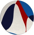 rug #1311679 | round red graphic rug