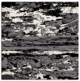 rug #1313999 | square black abstract rug