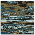 rug #1314023 | square black abstract rug