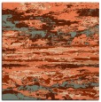 rug #1314219 | square red-orange abstract rug