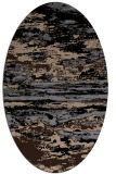 rug #1314375 | oval beige abstract rug