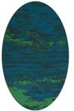 rug #1314427 | oval blue-green popular rug