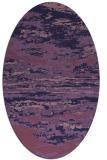 rug #1314459   oval blue-violet abstract rug